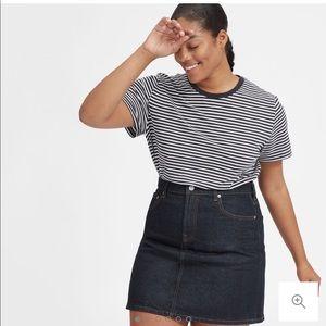 Everlane denim skirt